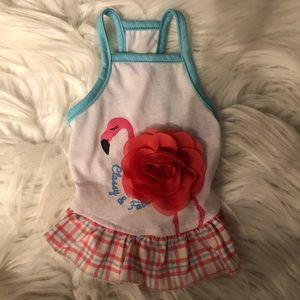 Classy & Fabulous Flamingo Dog Dress